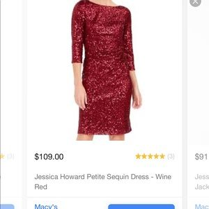 Wine Red sequent dress